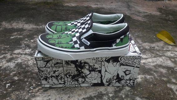 Vans slipon marvel hulk original