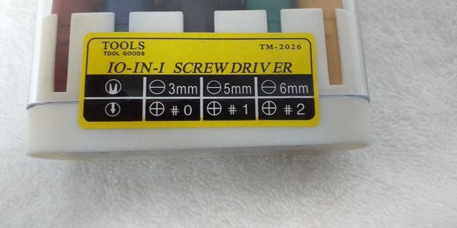 Portable 10 in 1 screw driver set