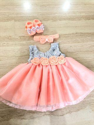 1 years old dress sets