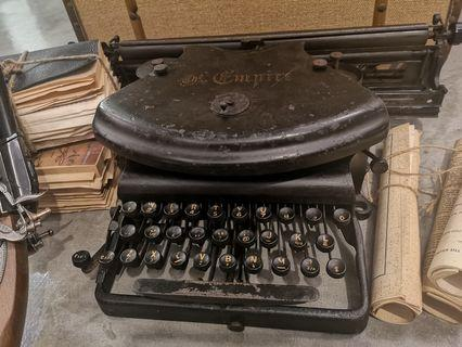 pre war the empire Antique rare  Typewriter