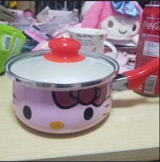 Hello Kitty pink pots 16cm cooker noodles milk 100% new