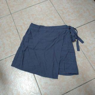 🚚 紫藍色綁帶一片裙