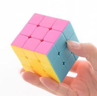 Pastel magic rubik cube