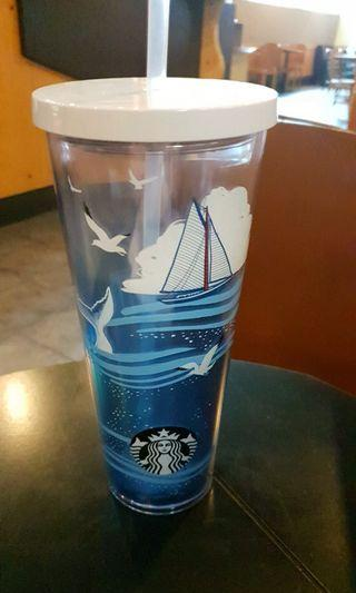 🆕️ starbucks cold cup 24oz sailboat in whale