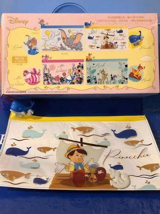 7-11 Disney 童夢隨行 透明隨行袋  2號 小木偶皮諾丘