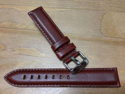 🚚 全新 正品 DW 原裝棕色真皮錶帶