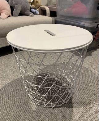 Ikea storage table white