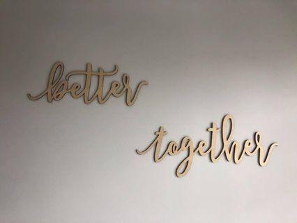 Bette together signage