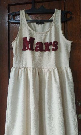 Mididress dress Putih Tumblr Dress keren
