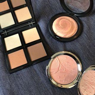 MAC ELF BECCA FACE HIGHLIGHTER PALETTE SET BUNDLE