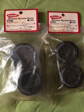 Kyosho Plazma Rims n Tires Full Sets(Made In Japan)
