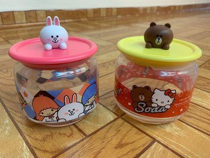 7-11樽樽滿JOY玻璃樽 熊大 兔兔