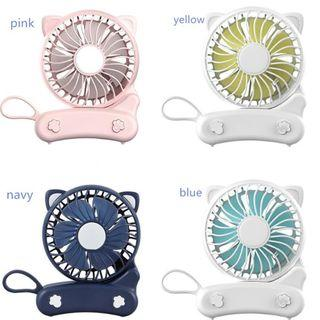 Cartoon mini fan handheld and foldable USB Rechargeable