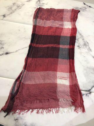 絕版藍標burberry圍巾