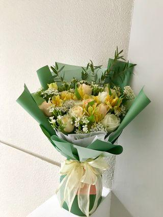 🚚 Beautiful Mixed Bouquet | Birthday Bouquet | Thank you Bouquet | Anniversary Bouquet