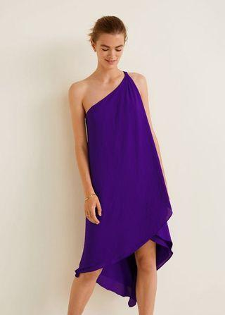 MANGO Asymmetric Hemline Dress