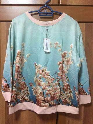 [LAZADA] Women Cherry Blossom Long Sleeve Top