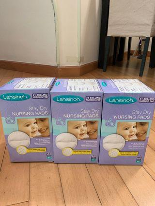 Lansinoh Stay Dry Nursing Pads, Individually Wrapped