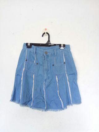 Denim skirts/black baggie skirt
