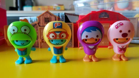 4pcs Pororo toys from Kinder Bueno surprise eggs