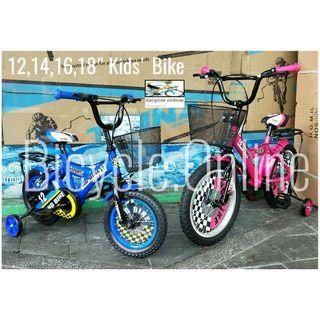 """Brand New Kids / Children Bicycle. 12"""" $109 - 18"""" $139. *Pre-order and get within 1 week. Whatsapp 81988865 for order and payment details."""