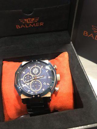 🚚 全新 賓馬Balmer錶 三眼帶日期及計時器