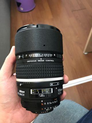 🚚 Nikon 105mm F2 DC