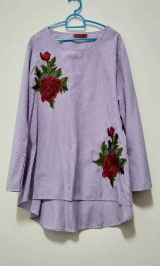 Preloved Floral Blouse Muslimah #MGAG101