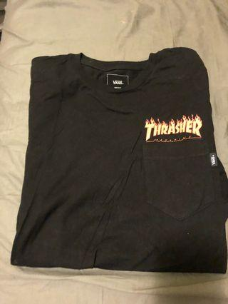Thrasher x vans tee supreme