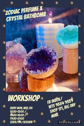 Crystal Bath Bomb x Zodiac Perfume Workshop