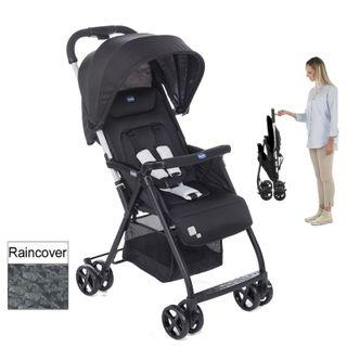 Chicco Stroller in Perfect Condition + Rain cover + Black Parasol