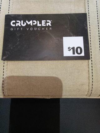 $10 CRUMPLER GIFT VOUCHER