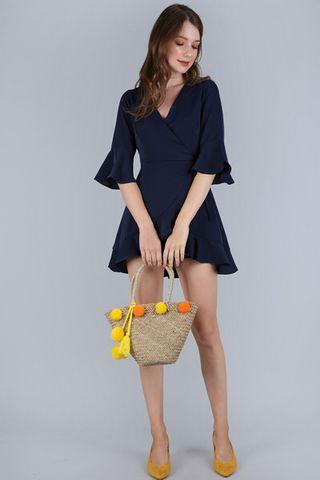 🚚 TTR Hyacinth Frilly Romper (Navy)