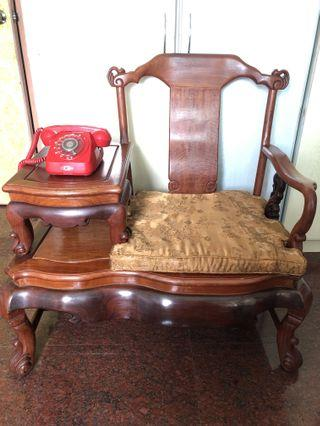 Rosewood Furniture Chair with side table