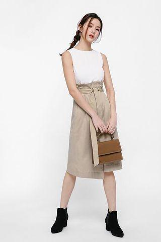 Love bonito Mira paperbag midi dress
