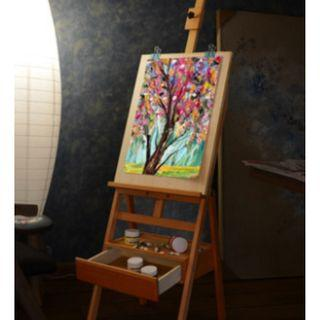 Moving Out Sale!Elm, wooden easel with drawers, polished, foldable, sketch, oil painting
