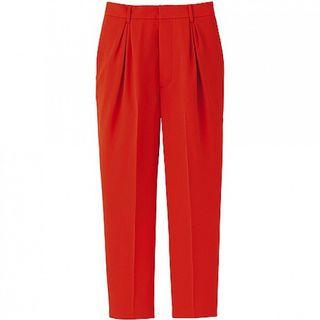 [UNIQLO] X G.V.G.V Women Mandarin Orange High Waist Pleated Smart Trouser