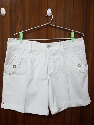White Bossini Shorts