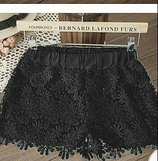 Korean Black Pretty Shorts Pants