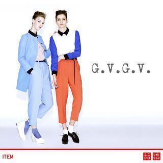 [UNIQLO] X G.V.G.V Women High Waist Baby Blue Pleated Smart Trouser - No Tags