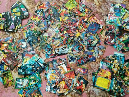 Lots of Marvel Trading Cards
