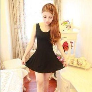 Basic Black Skater Dress
