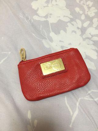 🚚 紅色零錢鑰匙包