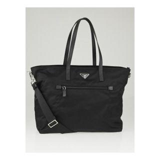 Prada BR4697 - Vela Nylon Tote Bag in Black Colour