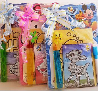 Children birthday goodie bag, goody bag, sand art, whiteboard, bubbles, diy craft