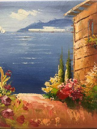🚚 Oil painting-sea view