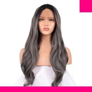 Grey Front Lace Hair Wig