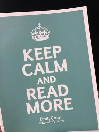 Kenneth Emily keep calm and read more