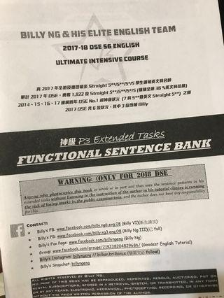 Billy Ng Paper 3 functional sentence bank