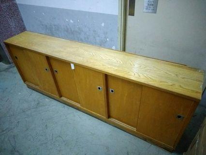 木制地櫃連趟門